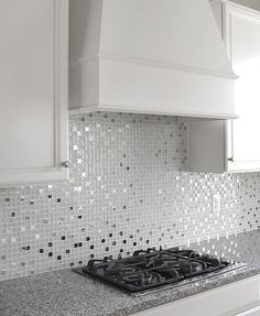 White Glass Metal Kitchen Backsplash Tile White glossy matte and crackle glass tiles mixed with metal tiles. White glass metal kitchen backsplash tile for elegance idea. Metal Tile Backsplash, Backsplash For White Cabinets, Beadboard Backsplash, Kitchen Backsplash, Backsplash Ideas, Herringbone Backsplash, Metal Cabinets, Hexagon Backsplash, Backsplash Design