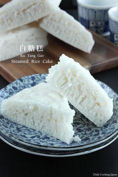白糖糕 Bai Tang Gao – Steamed Rice Cake