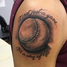 A baseball tattoo is a sign of a true fan. It cements your love for the game and shows others that you enjoy sport and having fun.