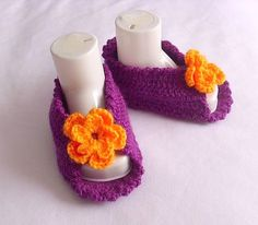 Baby Slippers Slippers Booties Shoe aby Girl Baby by modelknitting