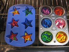Recycle Broken Crayons into Colorful New Crayons!