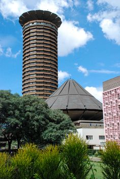 KANU Towers and government buildings in Constitution Square, downtown Nairobi Kenya Africa.