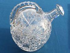 Antique American Brilliant Period Cut Crystal Glass RARE Rum Whiskey Jug