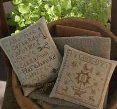 Stitched by Olde Threads....designs by Lori B. of Notforgotten Farm.