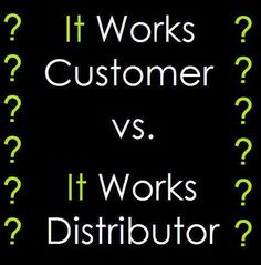 Did you know that there's only one difference between an It Works customer and an It Works Distributor? Can you figure out what the difference is?  A Distributor gets $$PAID$$ to change their life and others!  Did you know that it only costs $99 to register as a Distributor which is the same cost for a box of 4 wraps at retail price, and yet, there are so many benefits to becoming a Distributor!  https://miriamhammock.myitworks.com