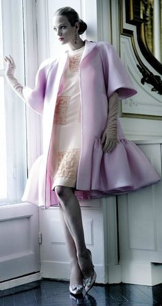 Valentino Haute Couture by Mario Sierra <3 cocktail attire dress and ruffle coat