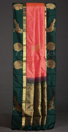 Beautiful Kanchivaram saree-The motif and weave just extraordinary! Such a stunning sari which I ever seen in my life