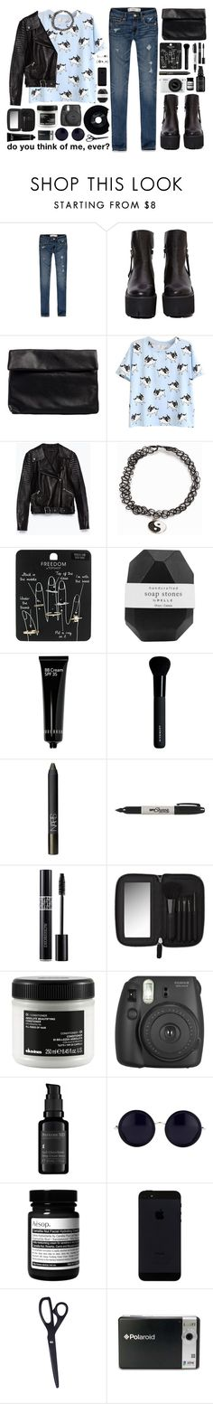 """""""sorry for the late update."""" by dear-scone ❤ liked on Polyvore featuring Abercrombie & Fitch, Jeffrey Campbell, Nelly, Zara, JFR, CHESTERFIELD, Topshop, Pelle, Bobbi Brown Cosmetics and Givenchy"""