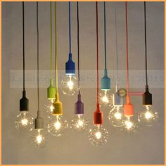 Aliexpress.com: Comprar Nuevo diseño e27 lámpara de Araña luminaria Colgante de color línea de Silicona titular colgante (bombillas no contienen) de lamps lighting fixtures fiable proveedores en Angcai Decor-lights Store