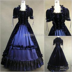 Wholesale 2013 Unique Gothic Victorian Luxury Colorful Short Sleeves Vintage Fall Ball Gown Wedding Dresses, Free shipping, $153.41/Piece | DHgate