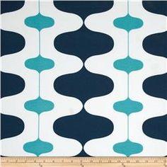 Premier Prints Indoor/Outdoor Ivon Oxford/Ocean