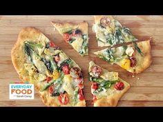 Rustic Springtime Vegetable Pizza