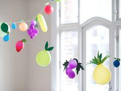 DIY fruit balloons, courtesy of Frankie Magazine.  #DIY #craft