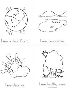 Earth Recycling Book Beginning Readers That You Print For Kids