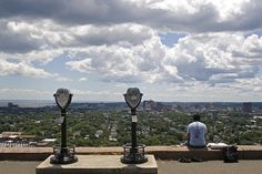 engagement pic ideas-east rock park view finders over New Haven...possibly at sunset.