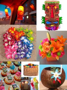 Tiki Party/Sweet 16 Party idea Or go different like this!