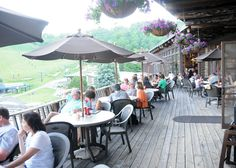 What about lunch on the Bavarian Deck?  www.7springs.com