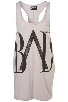 BAD Racerback Vest by Illustrated People** - New In This Week - New In - Topshop - StyleSays