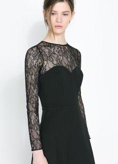 El negro, protagonista de los vestidos de fiesta de Zara, catálogo otoño invierno 2013/14
