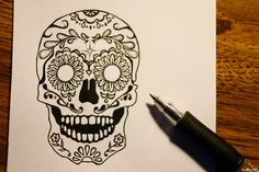 Cool skull tattoo design