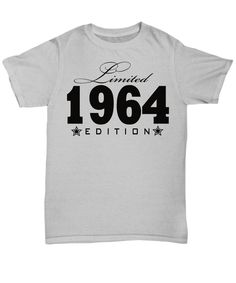 1982 Limited Edition any year personalized Birthday Party 1964 Birthday, 35th Birthday, Birthday Shirts, Trending Outfits, Usa, Printed, Mens Tops, Stuff To Buy, Party Ideas