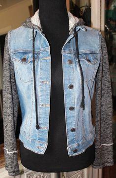 d5442195bd Mossimo Blue Denim Jacket Fleece Sleeves Women Medium  Mossimo  DenimJacket  Blue Denim