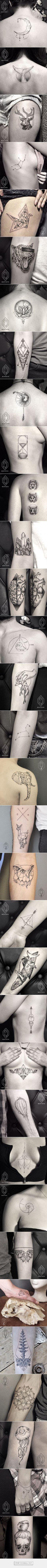 Minimalist Line And Dot Tattoos By Turkish Artist Bicem Sinik - created via http://pinthemall.net