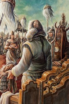 Genghis Khan with the Mongol Shamans