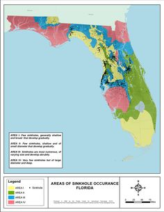 Florida Sinkhole Map County By County Florida Pinterest Orange