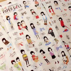 Aliexpress.com : Buy 6 Sheets/lot Korean Style Paperdoll Decorative Stickers  Sketch Cute Girl DIY Planner Scrapbook Diary Journal Stikers from Reliable Stationery Sticker suppliers on Maggie Stationery Wholesale Company