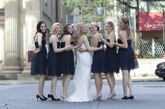 Bride in Vera Wang, Bridemaids in J Crew (Arabelle Dress, 2011), Flowers 'N Things, Click Photo Co.