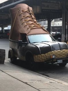 L.L. Bean's duckshoe mobile.