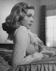 """Lauren Bacall (b. Betty Joan Perske, September 16, 1924) is a film & stage actress & model, known for her distinctive husky voice  looks. She first emerged as leading lady in the Humphrey Bogart film To Have And Have Not (1944). Her performance in the movie The Mirror Has Two Faces (1996) earned her a Golden GlobeAward and an Academy Award nomination.  """"I am not a has-been. I am a will be."""""""