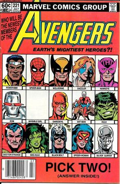 The Avengers Original 1963 Series - July 1982 Hawkeye and She- Hulk Join. Spiderman, Hulk, The Effective Pictures We Offer You About Comic Book theme A quality picture can tell you many thing Marvel Dc Comics, Marvel Comic Books, Marvel Characters, Comic Books Art, Epic Characters, Marvel Avengers, Die Rächer, Spiderman, Classic Comics
