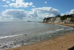 Dumpton Gap is a Sandy beach located near Broadstairs in Kent.Dogs allowed all year Uk Beaches, South East England, Beach Cafe, Dog Beach, Lifeguard, British Isles, Dog Friends, Gap, Coast