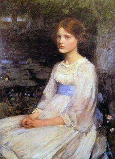 John William Waterhouse - Miss Betty Pollock, 1911