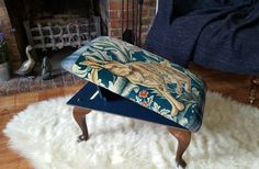 William Morris upholstered adjustable gput footstool.  Check out this item in my Etsy shop https://www.etsy.com/uk/listing/504252994/william-morris-forest-upholstered