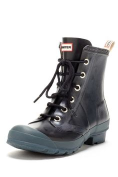 Hunter Brixen Short Combat Lace Front Boot  The only rain boots I would ever wear..