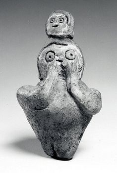 Ceramic Whistle, Figure With Head On Head  9th–5th century BCE  Peru, Tembladera