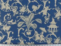 I'm in love this this fabric! Waverly Sun N Shade Quilted Palm Palace Fabric, Marine asian fabric Tissu Chinoiserie, Outdoor Fabric, Indoor Outdoor, Outdoor Spaces, Palace, Asian Fabric, How To Finish A Quilt, Home Decor Fabric, Coastal Fabric