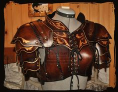 How to make Larp Armor out of Leather | leather armor woman by *Lagueuse on deviantART