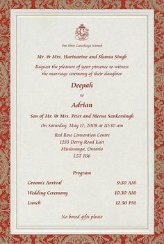 48 Best Hindu Wedding Invites Images Invitations