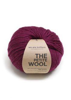 100% Dünne Peruanische Wolle Weinrot