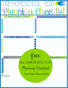 Free Pre-Homeschool Year Planning Checklist Form @ Tina's Dynamic Homeschool Plus #7stephomeschoolplanner