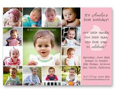 first year birthday invitation