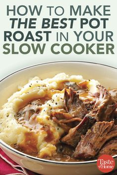 Here's the Right Way to Make Pot Roast in Your Slow Cooker Here's the Right Way to Make Pot Roast in Your Slow Cooker,Slow Cooker Recipes How to Make the Best Pot Roast in Your Slow Cooker recipes recipes recipes ideas dinner recipes Slow Cooker Sloppy Joes, Slow Cooker Roast, Crock Pot Slow Cooker, Slow Cooker Recipes, Best Slow Cooker, Beef Roast In Crockpot, Cooking Recipes, Perfect Pot Roast, Recipes