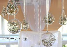 Dekoracje sal weselnych - kryształowe kule  #dekoracje #wesele #ślub  #wedding #decor