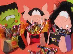 Dulceros de Halloween en foami - Imagui