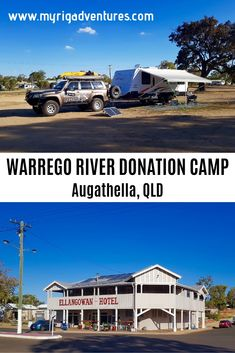 Generous Donation Camping along the Warrego River in Augathella, QLD. Main street of town, across from Ellangowan Pub. Travel Oz, Travel Tours, Travel Hacks, Roadtrip Australia, Going On Holiday, Holiday Trip, Holiday Ideas, Bike Parking, Bicycle Maintenance