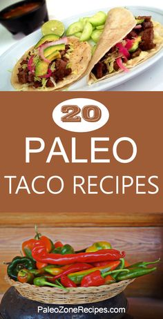 Delicious Paleo Taco Recipes http://www.paleozonerecipes.com/paleo-dinner-recipes/paleo-taco-recipes/ #paleo
